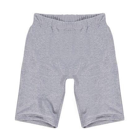 capri pants: white shorts isolated on white background