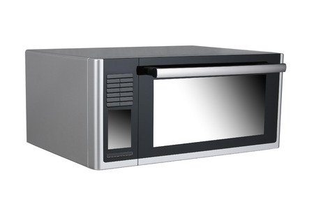 defrost: Microwave isolated on white