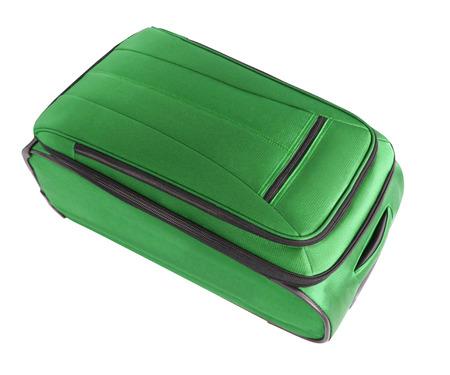 capacious: green convenient suitcase