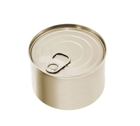 no label: Tin can with no label