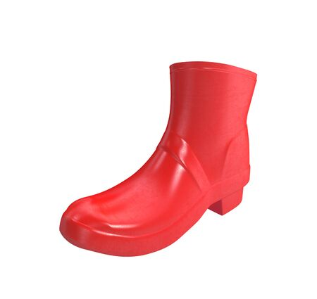 wellie: Red rubber boots for kids isolated on white