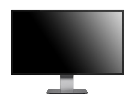 flat screen monitor: flat screen monitor isolated