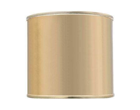 hermetic: Tin can isolated on white