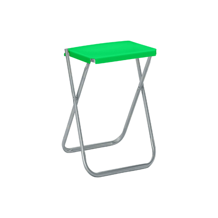 collapsible: Folding camping stool isolated on white