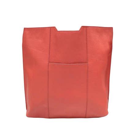 woman handle success: women handbag isolated on white Stock Photo