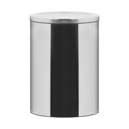 Garbage bin on white