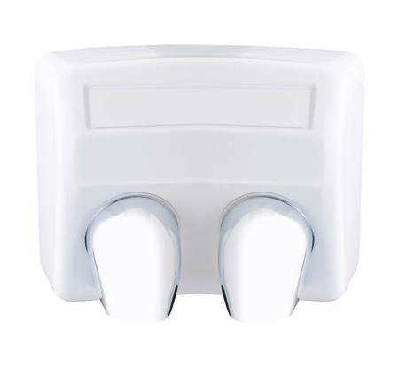 inox: Automatic hand dryer isolated on white background Stock Photo