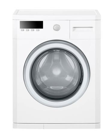 launder: Washing machine isolated on white background