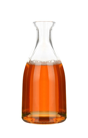 decanter: Decanter with apple vinegar Stock Photo
