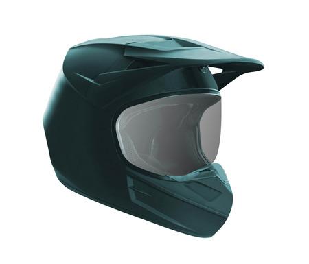Motorcycle helmet isolated