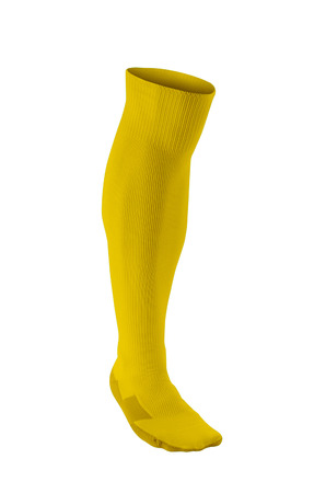knee boots: yellow soccer sock