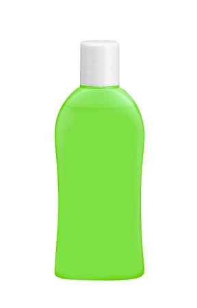 enjuague bucal: Una botella de mensaje de escobilla crudo líquido enjuague bucal antiséptico