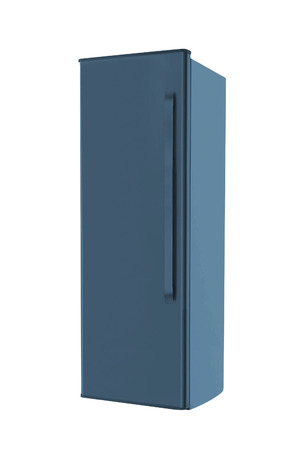 fridge: Steel fridge isolated