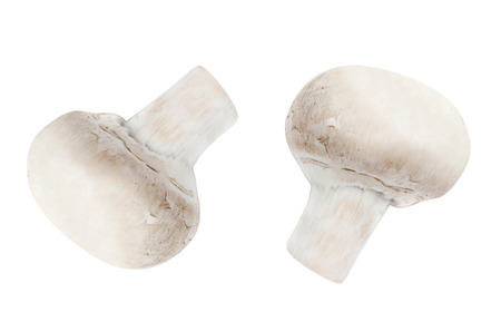 button mushrooms: Button mushrooms on white background