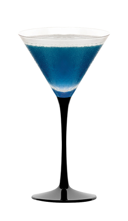 Blue cocktail glass