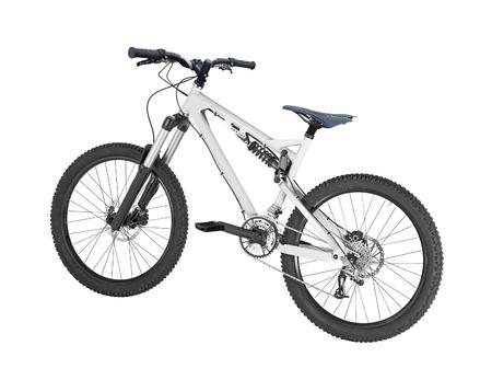 circuit brake: mountain bike isolated
