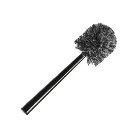 watercloset: Gray toilet brush, isolated on white background Stock Photo