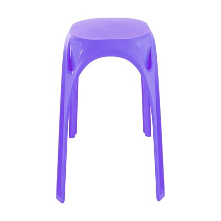 stool: violet stool isolated Stock Photo