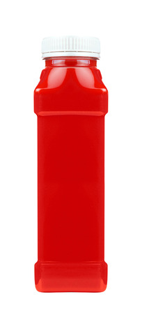 ketchup bottle: Ketchup souce platic bottle isolated Stock Photo