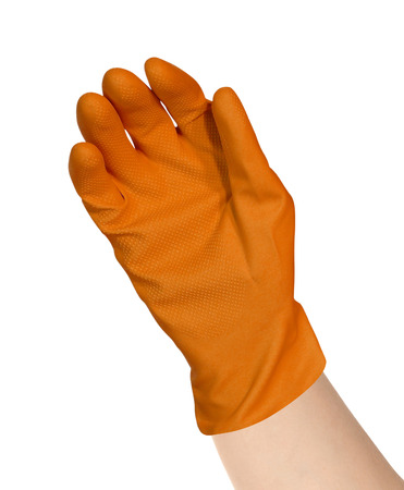 protective: protective rubber glove Stock Photo