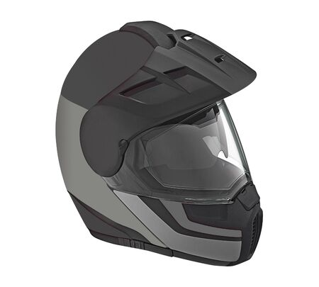 road bike: Motor bike helmet for road safety Stock Photo