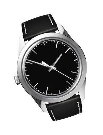 tachymeter: Mens swiss mechanical wrist watch Stock Photo