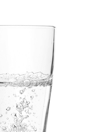 a Glass of water isolated on white background 版權商用圖片