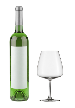 wine bottle isolated on white background Banque d'images - 106121400
