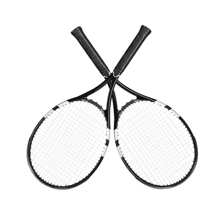 Tennis rockets isolated on white background