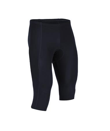 black shorts isolated on white background