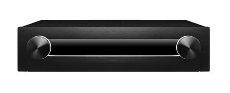 Black sound system isolated on white background Reklamní fotografie