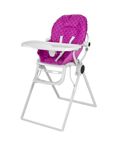 Baby High Chair isolated on white background