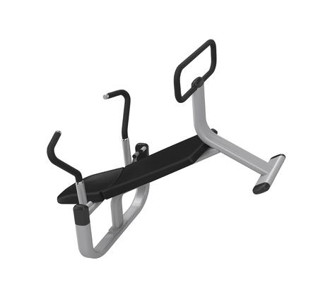 Équipement d'exercice abdominal isolé sur fond blanc