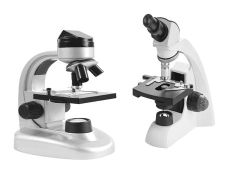 microscopes isolated on white background