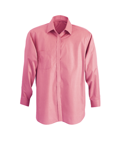 new pink mans shirt isolated on white Фото со стока