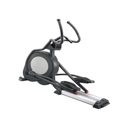 Elliptical gym machine isolated on white background
