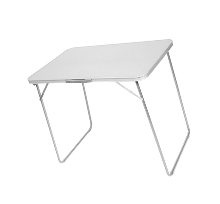 Folding table isolated on white Foto de archivo