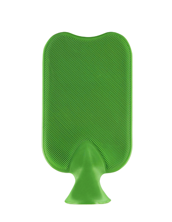 green rubber hotty isolated on white background Stock Photo