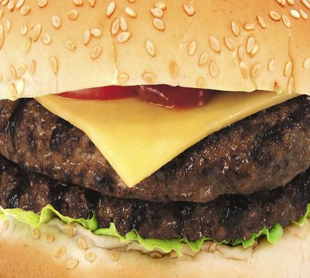 Big hamburger close up background
