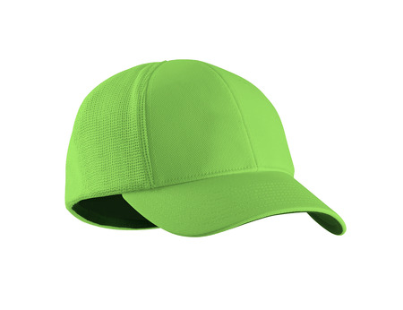 Green Baseball Hat isolated on white background Stock Photo