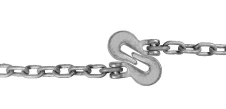Metal hooks isolated on white background
