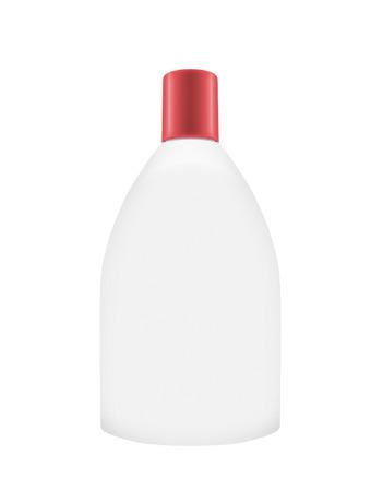 Shampoo bottle on the white background Archivio Fotografico