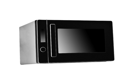 Black Microwave isolated on white background