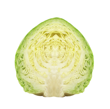 cabbage isolated on white background Banque d'images - 106130290
