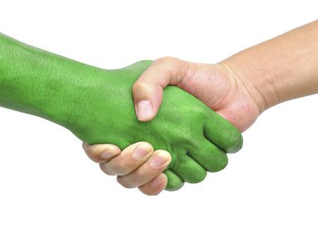 shake hands isolated on white background