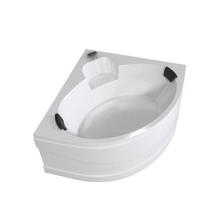 White bathtub isolated on white background