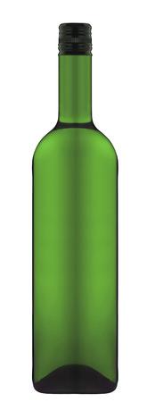bottle of wine isolated over white background