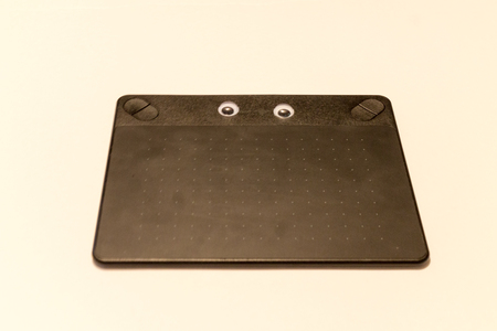 Lower view of eyed Graphics tablet