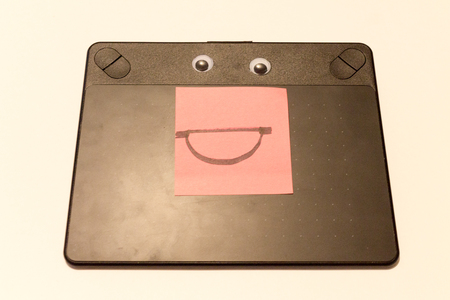 A happy graphics tablet