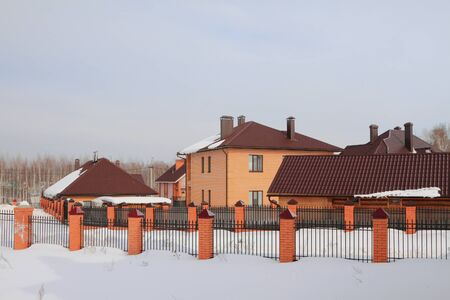 fenced in: Country settlement in winter